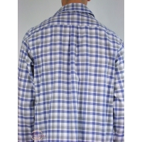 chemise de nuit pour homme qualit mi saison coloris ecossais bleu. Black Bedroom Furniture Sets. Home Design Ideas