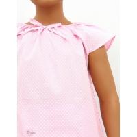 Pyjama court fille, Pois fond rose