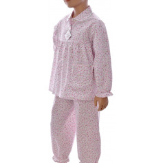 Pyjama long fille coton bio, Liberty Rose
