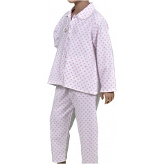 Pyjama long fille en pilou, Pois Rose