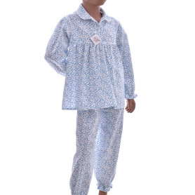 Pyjama long fille popeline coton, Poissons