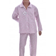 Pyjama long fille en coton Bio, Liberty Rose