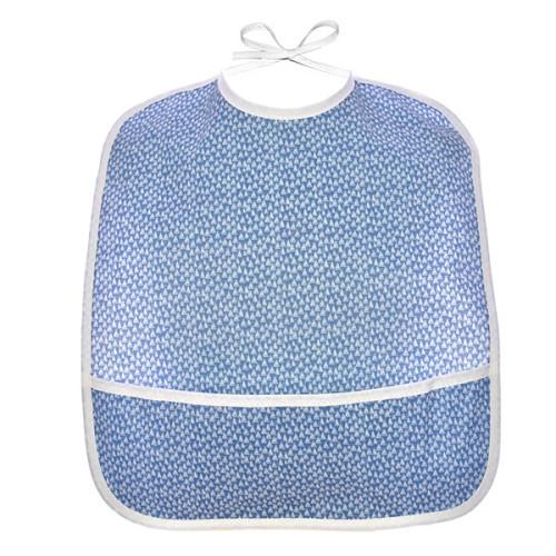 Bavoir bébé en coton enduit, Mini Voiliers