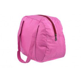 Sac week end en coton enduit, Confeti Fushia