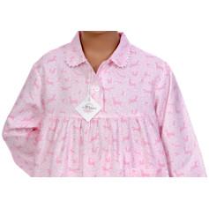 Pyjama long fille en pilou, Forêt enchantée