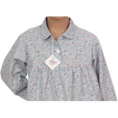 Pyjama long fille en coton sergé Bio, Carmin