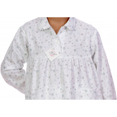Pyjama long fille en pilou, Flocons