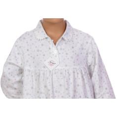 Chemise de nuit fille en pilou, Flocons