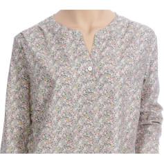 Chemise de nuit femme, forme liquette en coton Bio, Coro