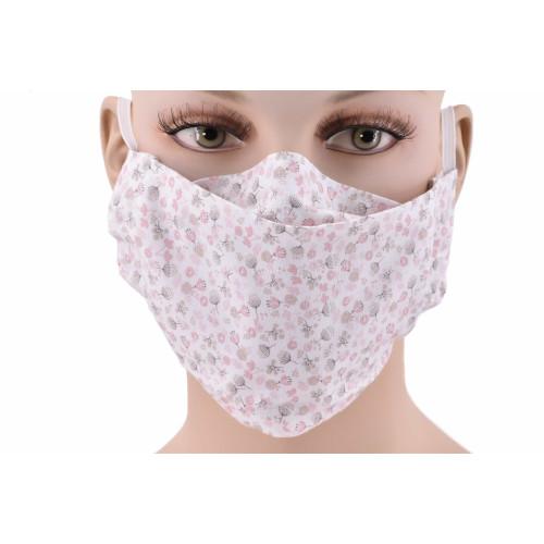 Corona virus, lot de 3 Masques barrières en popeline 100% coton.