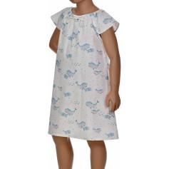 Chemise de nuit d'été en popeline coton, Leila
