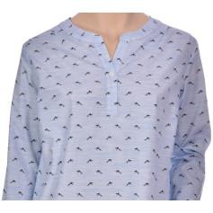 Chemise de nuit femme forme liquette en coton, Willy