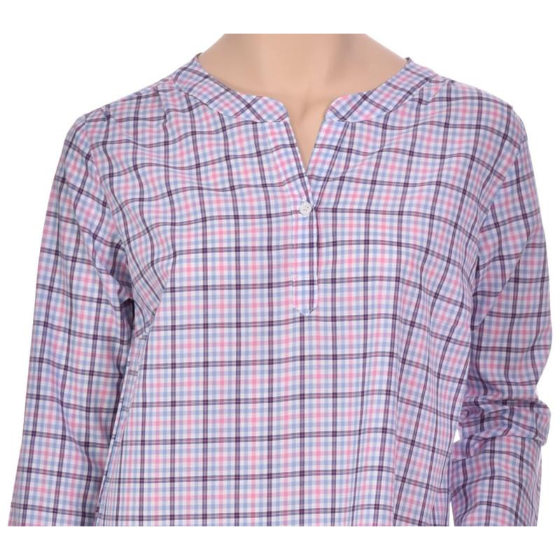 Chemise de nuit femme forme liquette en coton, Orient