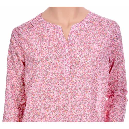 Chemise de nuit femme liquette en coton liberty pink
