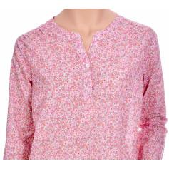 Chemise de nuit femme, liquette en voile de coton Bio, Liberty Rose