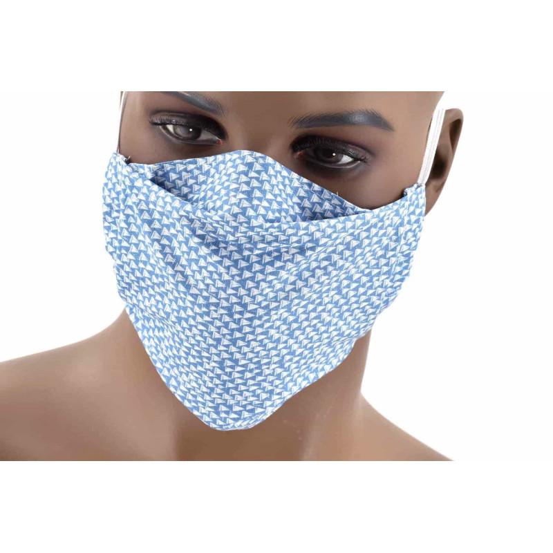 3 Masques barrières en popeline 100% coton.