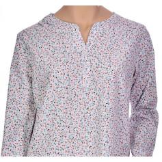 Chemise de nuit femme forme liquette en coton Bio, Tilleul