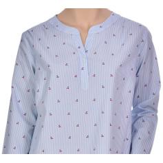 Chemise de nuit femme forme liquette en coton, Cerises