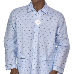 Pyjama long homme en coton, Willy