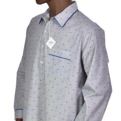 Chemise de nuit homme en coton, Dauphins