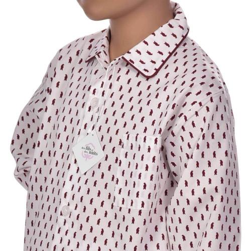 Pyjama classique garçon en coton, Ours rouge