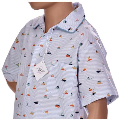 Pyjacourt garçon en coton, Jour de pêche