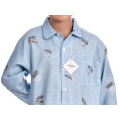 Pyjama long garçon en coton pilou, Souris