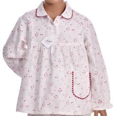 Pyjama long fille en pilou, Bouquets