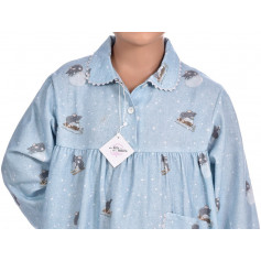 Chemise de nuit fille en pilou, Souris