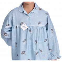 Pyjama long fille en pilou, Souris