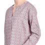 Liquette femme manches longues en satin de coton imprimé Paris