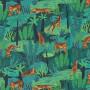 Pantalon d'intérieur pour homme en satin de coton, Tigres