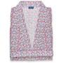 Kimono en satin de coton imprimé Paris.