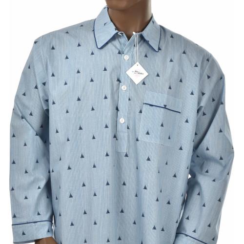 Chemise de nuit homme en coton, Croisière