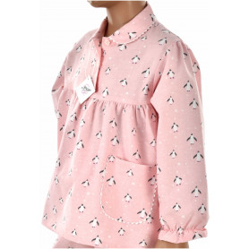 Pyjama long fille en pilou - Pingouin Rose