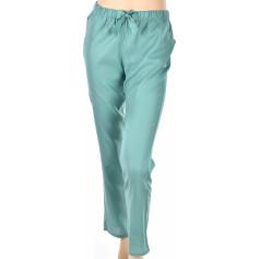 Pantalon d'intérieur en satin de coton, Uni Vert