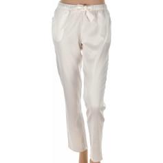 Pantalon d'intérieur en satin de coton Blanc crème
