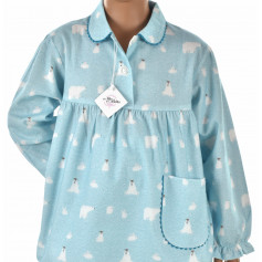 Pyjama long fille en pilou, Ice Bird