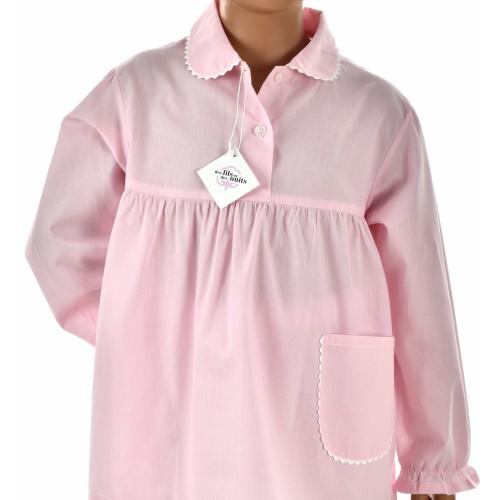 Pyjama fille en popeline coton, Rayé Rose