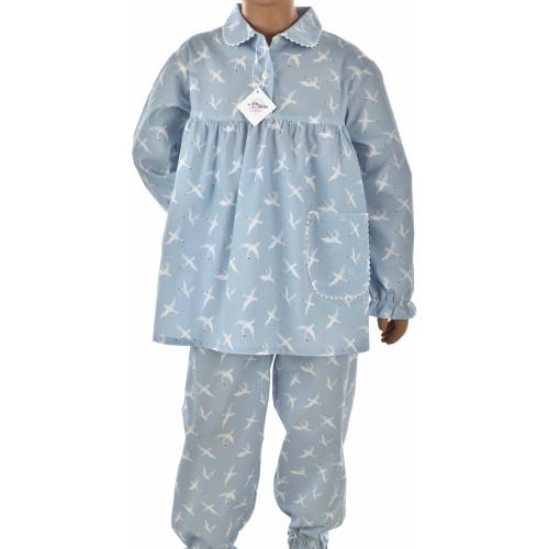 Pyjama fille en popeline coton, Cygnes
