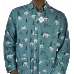 Pyjama long homme en coton pilou bio, Kanata