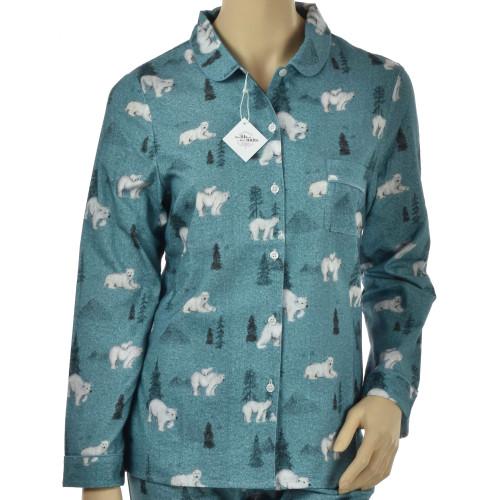 Pyjama femme en coton pilou bio, Kanata