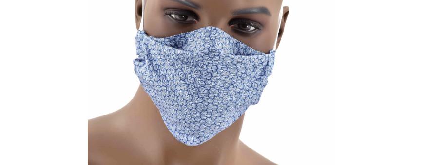 Masques barrière en coton par 3